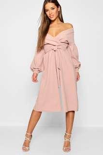 Wrap culottes dress petite