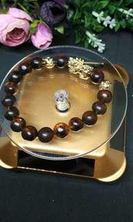 Genuine amber pixiu bracelet