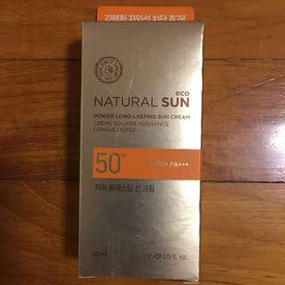 ( Reserved ) The Face Shop Natural Sun Power Long-lasting Sun cream