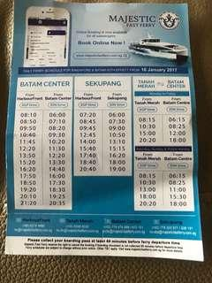Batam Ferry Etickets and Physical Ferry Tickets