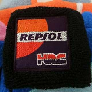 Repsol HRC brake reservoir socks. Clutch reservoir cover. Brake bottle cover. For all hondas. Cbr1000 cbr600 cbr300 cbr500