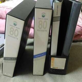 黑/藍色 A4塑質內80頁透明袋共2本 黑色 A4塑質內40頁透明袋共2本