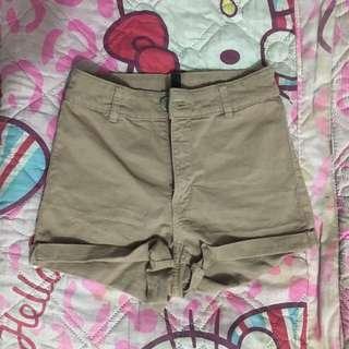 H&M Khaki High Waisted Shorts