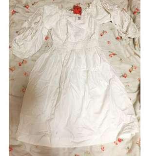 🚚 韓國白色洋裝 全新