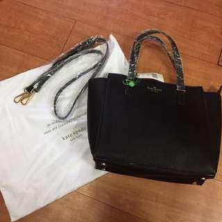 Kate spade black 2wag bag