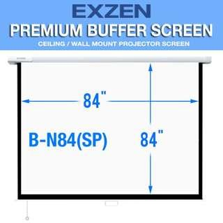 [EXZEN] 7 Ft x 7 Ft Premium Buffer Projector Screen