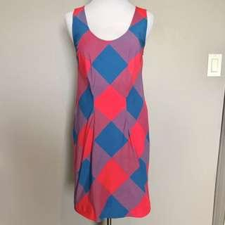 Marc by Marc Jacobs Neon Tartan dress