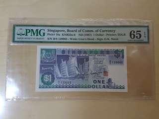 新加坡1987年$1 PMG 65 EPQ