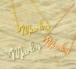 🚚 Personalized Name necklace customisation
