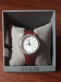 Guess Maroon Watch