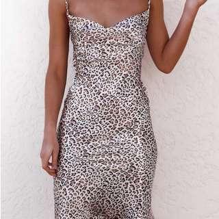Leopard Silky Dress
