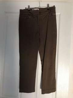 Khaki Tailored Pants Size 8