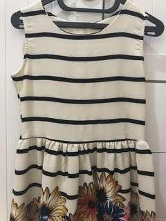 Stripe Flower Summer Dress