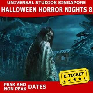 USS Halloween Horror Nights 8 + $5 Meal Voucher - Peak and Non Peak - (Open Dated)