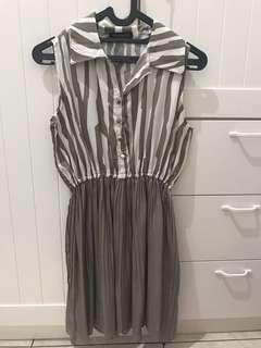 Grey Rample Dress