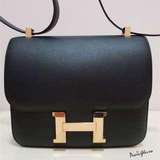 1f674864864b BNIB Hermes Constance 24 black epsom Rghw