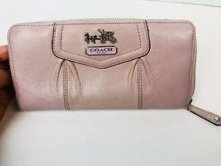 Coach Madison Leather Clutch Zip Around Color Lavender  Accordion Organizer