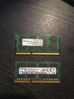 Laptop Ram x2 8GB