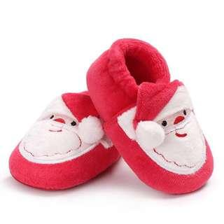 Christmas Soft Shoes 0-3mos