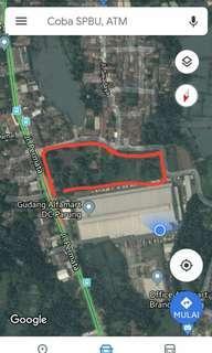 Dijual tanah kosong luas 3 hektar.