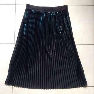 Monki Midi Pleated Skirt
