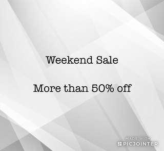 Major clearance sale this weekend only