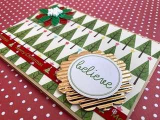 🚚 Christmas Handmade Card - Believe