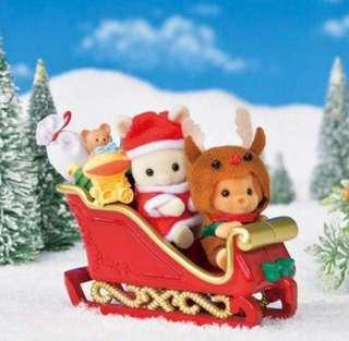 Sylvanian Families Baby Sleigh ride for Christmas
