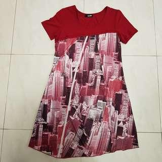 🚚 [CLEARANCE] Red Graphic Dress