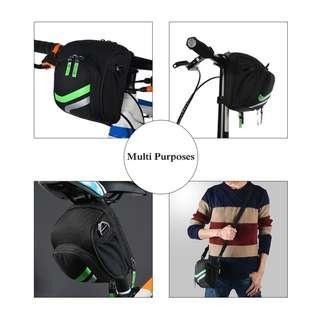 Bicycle Handlebar Bag Saddle Seat Bag with Rain Cover