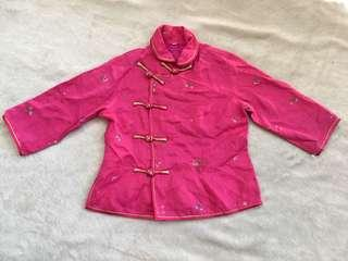 Pink Chinese Top or Blouse for girls (approx 3-4yo)