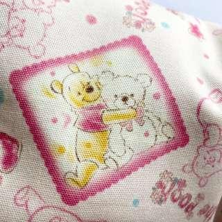 🌈 Bean Sprout Husk Pillow / Beanie Pillow , Fabric from Japan ( 100% Handmade 100% Cotton , Premium Quality !) size 15 x 40cm Pooh Bear