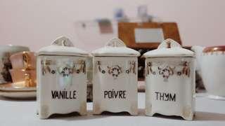法國復古陶瓷香草瓶 French Vintage Herbs Container