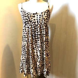 Leopard print strappy dress