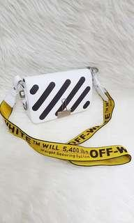 Authentic offwhite diag flag cross body shoulder