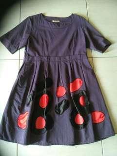 #oktosale dress pesta ungu merah keren