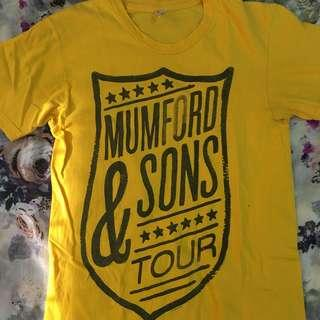 American Apparel Mumford and Sons Tour Shirt