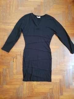 Emanuel Zoo Retro Black Sweater Dress
