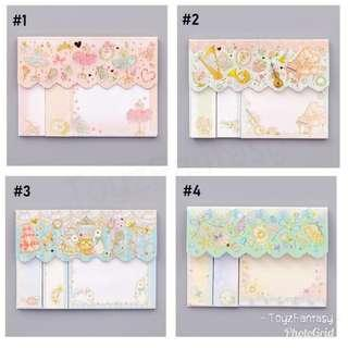 Dainty Pastel Colour Post it / Sticky Note / Memo