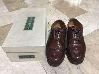Authentic Cole Haan US 8 E men footwear genuine leather tan brown brogues oxford shoes