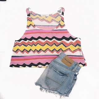Forever 21 flowy patterned crop top