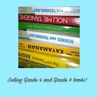 Grade 9 and Grade 7 books, 100 each!