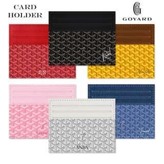 Custom Card Holder Dompet Kartu Leather Goyard