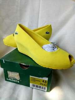 Authentic Lacoste block srw heels
