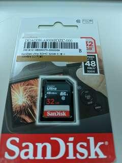 SanDisk Ultra SDHC 32GB 記憶卡(手殘買錯,所以全新未拆封)