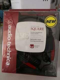 Audio Technica ATH-SQ505  耳機,紅色,全新