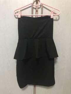 BNIP Quality Black Tube Dress