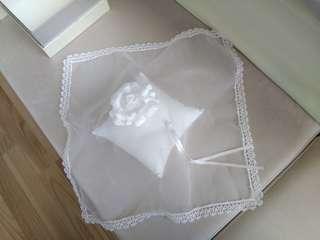 Wedding Rings Display Lace Cushion