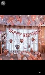 Rose Gold Balloons. Rose gold party Decor
