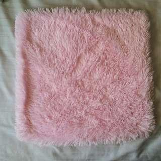 Fuzzy Pink Cushion Cover